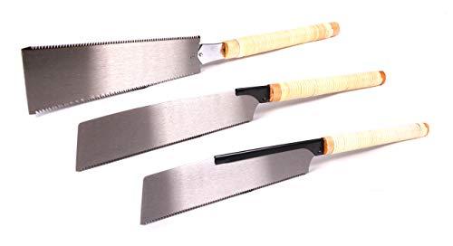 protanic 3er Set Japansaegen Handsaege Zugsaege Holzsaege Ryoba Kataba Dozuki - protanic 3er-Set Japansägen Handsäge Zugsäge Holzsäge (Ryoba, Kataba, Dozuki)